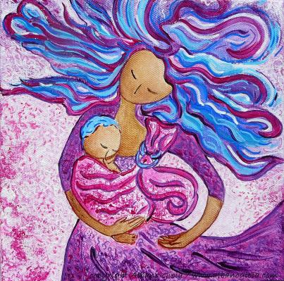 sling-dance-motherhood-babywearing-dance-artwork-gioia-albano