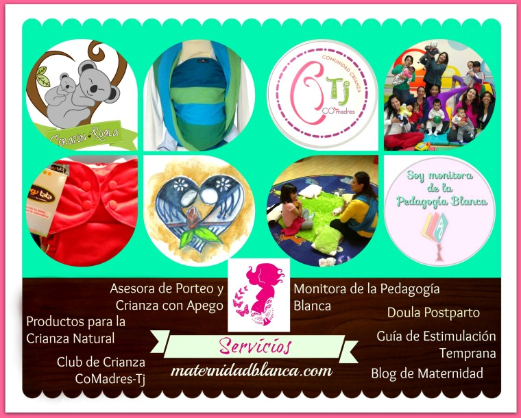 Collage de Servicios Maternidad Blanca